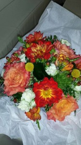 """""""Thank you for doing an amazing job with the flowers for my wedding. I had so many compliments!"""" ~ Janean Ganser"""