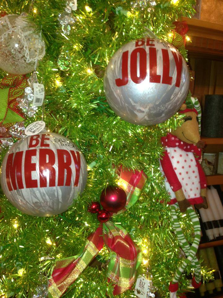 Be Merry! Be Jolly!!! Over-sized ornaments for the humbug !!!!!